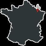 Carte grand-est et Luxembourg