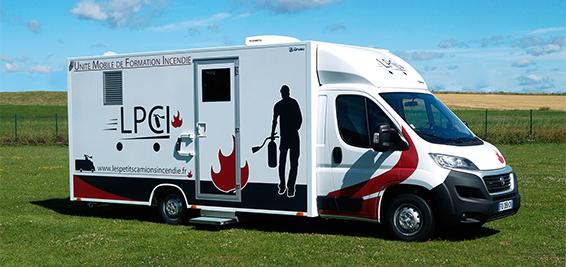 Unité mobile de formation sécurité incendie en entreprise